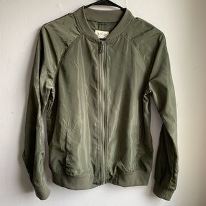 L.A. HEARTS Army Green Bomber